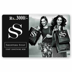 Shoppers Stop Gift Vouchers Rs 3000/-