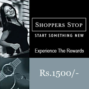 Shoppers Stop Gift Vouchers Rs 1500/-