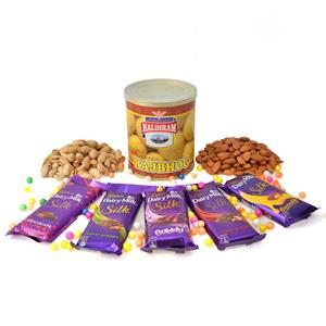 Flavoursome Hamper Of Chocolates Sweets And Nuts
