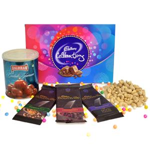 Delicious Hamper Of Chocolates Sweets And Nuts