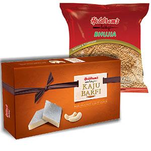 Haldiram Kaju Katli 1 kg with Bhujia